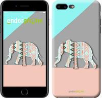 """Чехол на iPhone 7 Plus Узорчатый слон """"2833c-337-2448"""""""