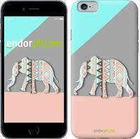"""Чехол на iPhone 6 Узорчатый слон """"2833c-45-2448"""""""