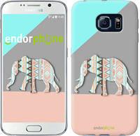 "Чехол на Samsung Galaxy S6 G920 Узорчатый слон ""2833c-80-2448"""