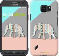 """Чехол на Samsung Galaxy S6 active G890 Узорчатый слон """"2833u-331-2448"""""""