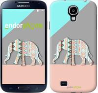 "Чехол на Samsung Galaxy S4 i9500 Узорчатый слон ""2833c-13-2448"""