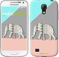 "Чехол на Samsung Galaxy S4 mini Узорчатый слон ""2833c-32-2448"""