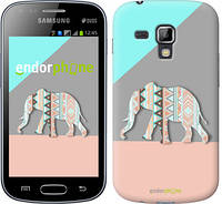 "Чехол на Samsung Galaxy S Duos s7562 Узорчатый слон ""2833c-84-2448"""