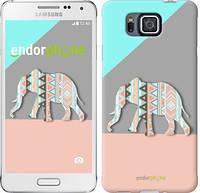 "Чехол на Samsung Galaxy Alpha G850F Узорчатый слон ""2833c-65-2448"""
