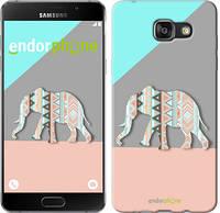 "Чехол на Samsung Galaxy A7 (2016) A710F Узорчатый слон ""2833c-121-2448"""