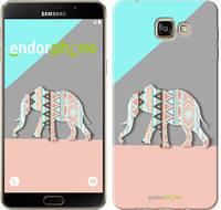 "Чехол на Samsung Galaxy A9 A9000 Узорчатый слон ""2833u-107-2448"""