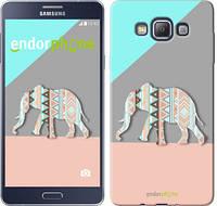 "Чехол на Samsung Galaxy A7 A700H Узорчатый слон ""2833c-117-2448"""