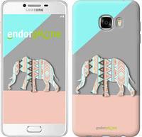 """Чехол на Samsung Galaxy C7 C7000 Узорчатый слон """"2833u-302-2448"""""""