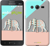 "Чехол на Samsung Galaxy Core 2 G355 Узорчатый слон ""2833c-75-2448"""