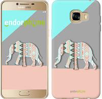 "Чехол на Samsung Galaxy C5 C5000 Узорчатый слон ""2833c-301-2448"""
