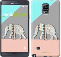 "Чехол на Samsung Galaxy Note 4 N910H Узорчатый слон ""2833c-64-2448"""
