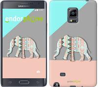 "Чехол на Samsung Note Edge SM-N915 Узорчатый слон ""2833u-128-2448"""