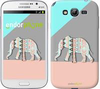 """Чехол на Samsung Galaxy Grand Neo I9060 Узорчатый слон """"2833c-112-2448"""""""