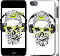 """Чехол на iPod Touch 6 Череп в очках и наушниках """"4144c-387-2448"""""""