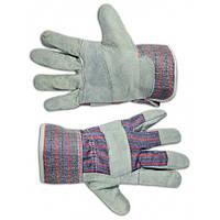 Перчатки рабочие, замшевые,желтые,16-151