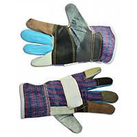 Перчатки кожаные утолщенные,L,16-178