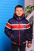 Куртка «Шумахер-1» весенне-осенняя для мальчика 6-8 лет (р. 30-34 / 116-128 см) ТМ MANIFIK Синий