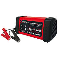 Зарядное устройство 6/12В, 4/8A, 230В, LED-индикация INTERTOOL AT-3018