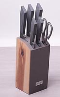 Набор ножей Kamille 5044 7 предметов на подставке (5 ножей+ножницы+подставка)