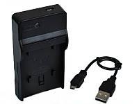 Зарядное устройство c micro USB LC-E6E (аналог) для CANON 70D 60D 6D 7D 5D Mark II Mark III - (АКБ LP-E6)