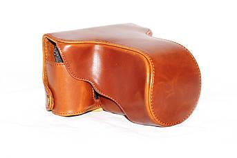 Защитный футляр - чехол для фотоаппаратов FujiFilm X-E2, X-E1 - коричневый
