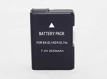 Аккумулятор для камер NIKON D3100, D3200, D3300, D5100, D5200, D5300, D5500 - EN-EL14 (EN-EL14a)  - 2050 ma