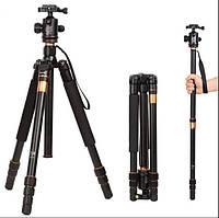 Штатив + монопод фирмы QZSD для фотоаппаратов - Q-999 (Q999) + головка QZSD-02