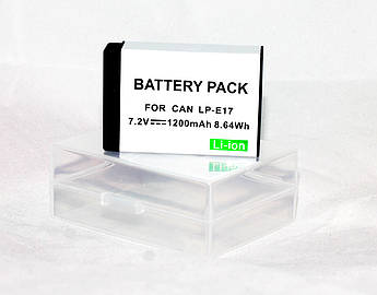 Аккумулятор LP-E17 для фотоаппаратов CANON 77D, 750D, 760D, 800D, 200D, EOS M3, M6 Rebel T6s - аналог 1200 ma