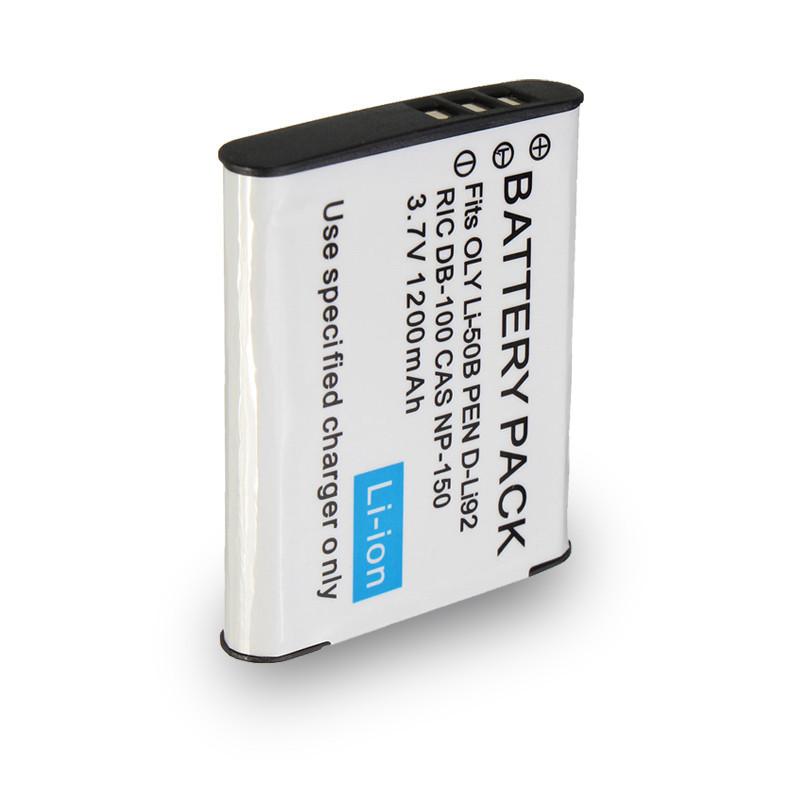 Аккумулятор для фотоаппаратов CASIO - аккумулятор NP-150 (D-Li92, Li-50B, VW-VBX090) - аналог на 1200 ма