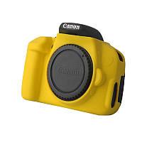 Защитный силиконовый чехол для фотоаппаратов Canon EOS 600D, 650D, 700D  - желтый
