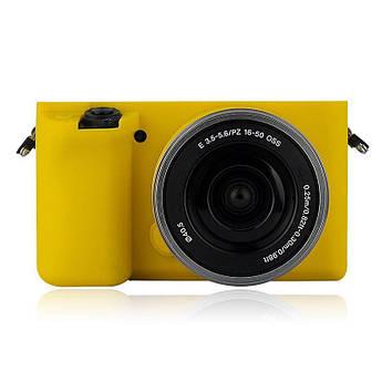 Защитный силиконовый чехол для фотоаппаратов SONY A6000 - желтый