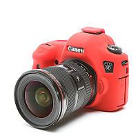 Защитный силиконовый чехол для фотоаппаратов Canon EOS 6D  - красный