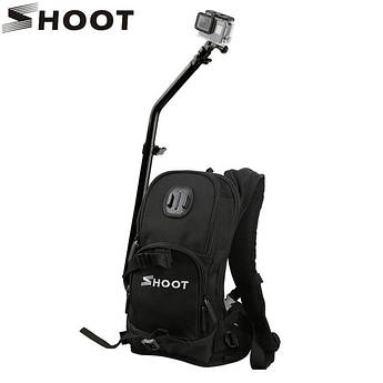 Рюкзак от SHOOT со штангой и креплениями для экшин-камер XIAOMI, SJcam, GoPro (код № XTGP403)