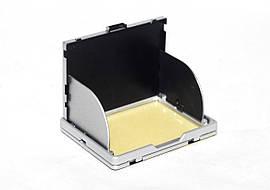 """Защита экрана 3"""" LCD камеры с козырьком и шторками - серебро"""