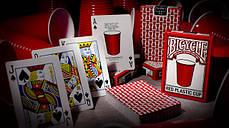 Карты игральные | Bicycle Red Plastic Cup, фото 3