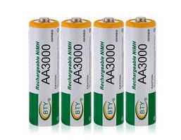 Аккумуляторы AA BTY 3000 mAh (4шт в блистере)