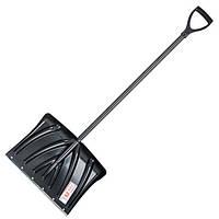 Лопата для уборки снега 505*340мм с ручкой 1300 мм INTERTOOL FT-2022, фото 1