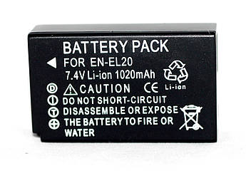 Аккумулятор EN-EL20 (аналог) для фотоаппаратов NIKON 1 J1, J2, J3, CoolPix A - 1020 ma