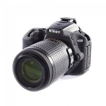 Защитный силиконовый чехол для фотоаппаратов Nikon D5500, D5600  - черный