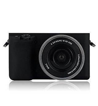 Защитный силиконовый чехол для фотоаппаратов SONY A5000, A5100 - черный
