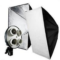 Софтбокс, рассеиватель, диффузор (Softbox) 60 х 90 см для постоянного флуоресцентного света - на 4 патрона E27