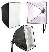 Софтбокс, рассеиватель, диффузор (Softbox) 60 х 60 см для постоянного флуоресцентного света - с патроном E27