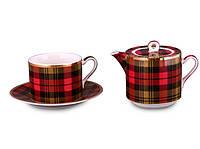 """Чайный набор на 1 персону, 3 пр. """"Шотландка"""""""