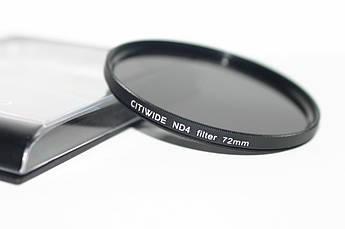 Нейтрально-серый светофильтр CITIWIDE 72 мм ND4