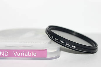 Нейтрально-серый светофильтр с переменной плотностью 58 мм ND2 - ND400