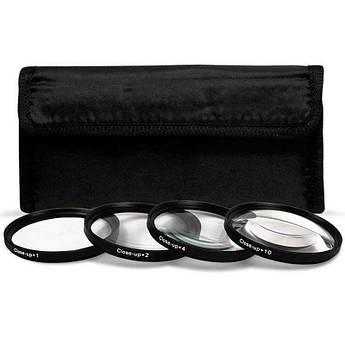 Набор светофильтров - макролинз CLOSE UP +1 +2 +4 +10 диаметром 58mm - 4 штуки