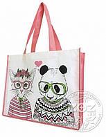 Эко-сумка «Хипстеры панда и кошка»