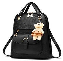 Элитные рюкзаки в узор Candy Bear с брелком, фото 2