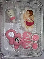 Цукрова прикраса для торта Хрестильний набір для дівчинки