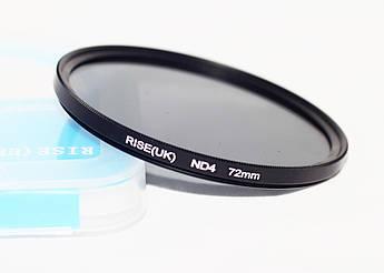 Нейтрально-серый светофильтр RISE (UK) 72 мм ND4